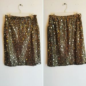 Vintage Gold pencil skirt